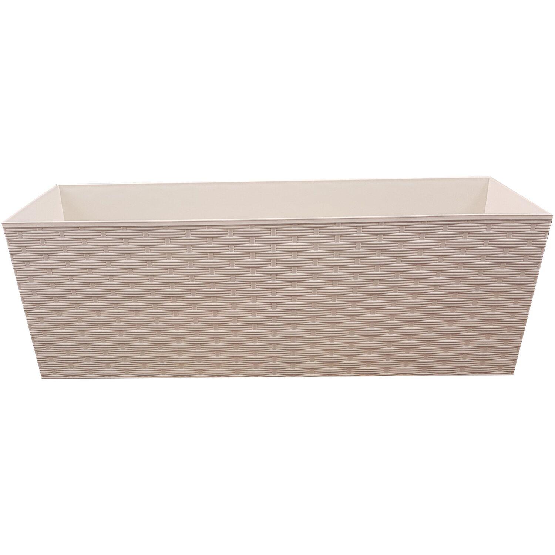 blumenkasten milano 56 cm x 19 cm x 19 cm inkl kokoterra erde creme wei kaufen bei obi. Black Bedroom Furniture Sets. Home Design Ideas