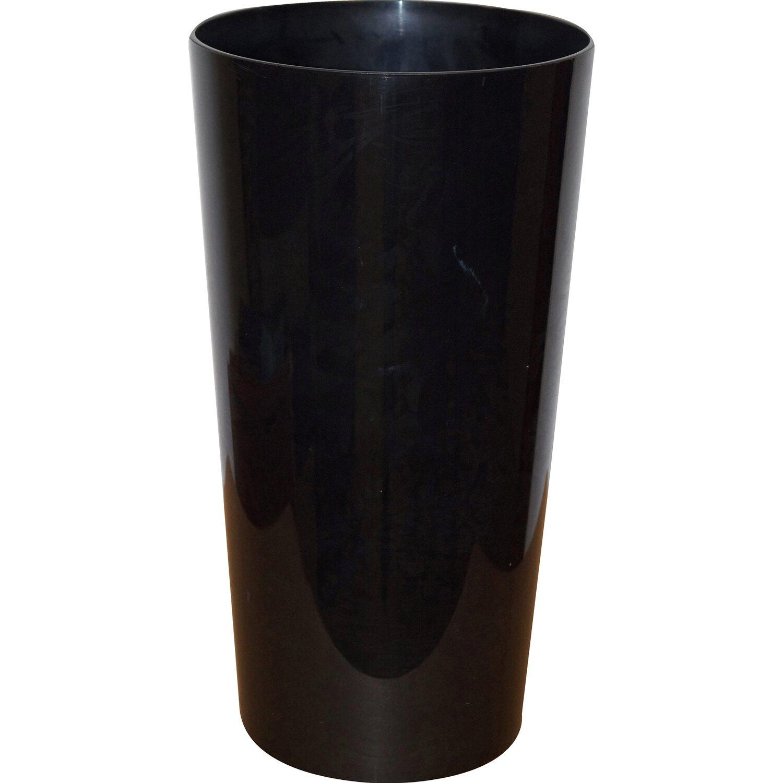 Pflanzkübel Verona Ø 30 cm x 57 cm inkl. KokoTerra Erde Schwarz | Dekoration > Dekopflanzen > Pflanzenkübel | KokoTerra