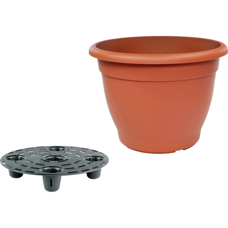 pflanztopf campana mit bew sserungssystem 40 cm terrakottafarben kaufen bei obi. Black Bedroom Furniture Sets. Home Design Ideas