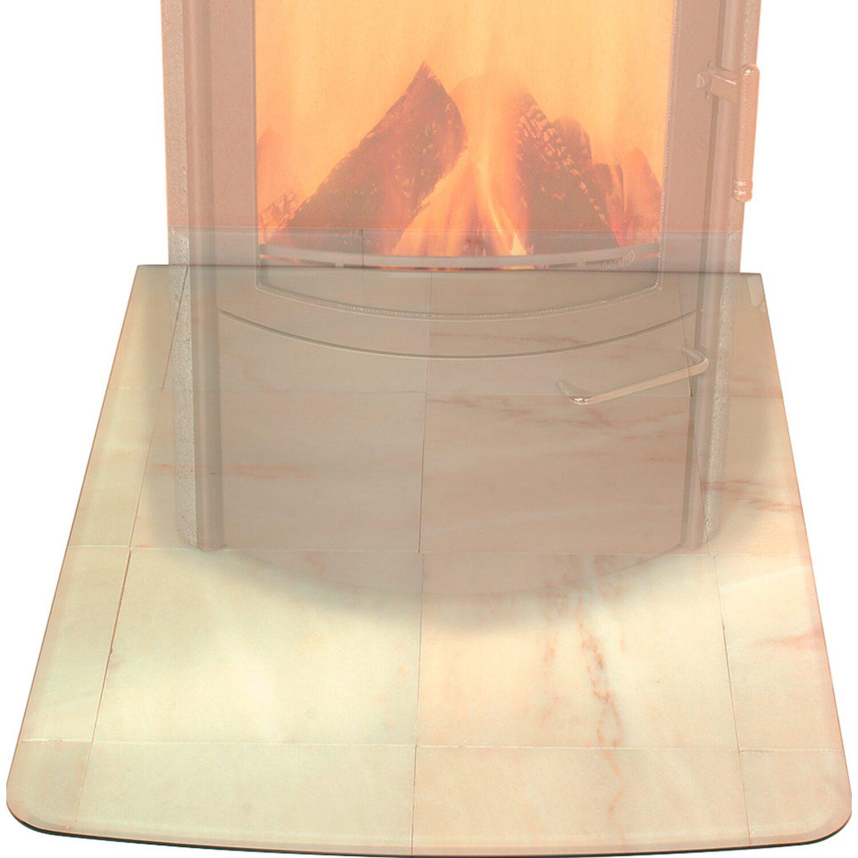Hark Glasbodenplatte Klein mit Facettenschliff
