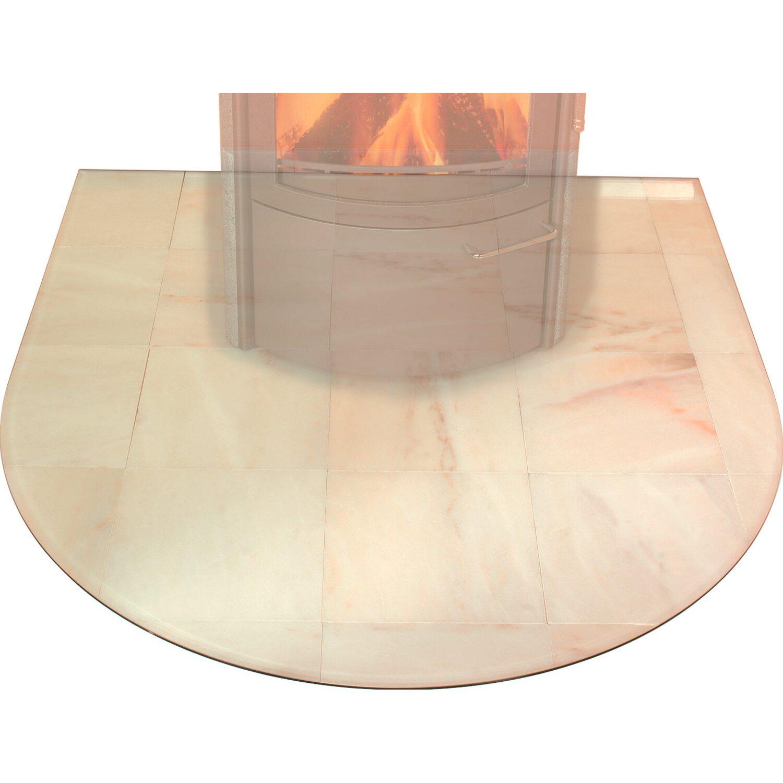 Hark Glasbodenplatte Groß mit Facettenschliff