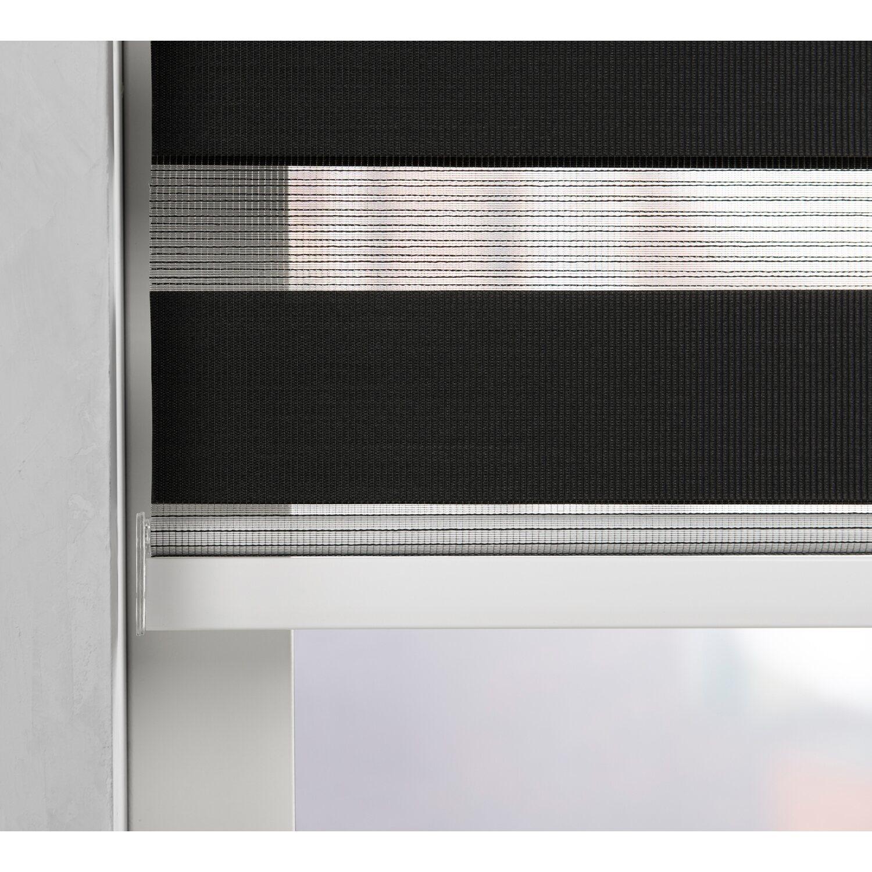 Cocoon doppelrollo tageslicht 28 mm schwarz 40 cm x 175 cm for Fenster 40 x 40