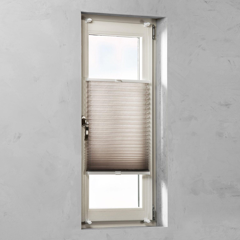 cocoon easy fix plissee verspannt tageslicht taupe 45 cm x 130 cm kaufen bei obi. Black Bedroom Furniture Sets. Home Design Ideas