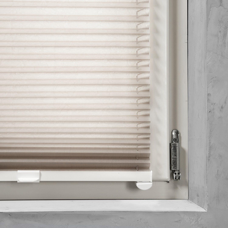 cocoon easy fix plissee verspannt tageslicht taupe 120 cm x 130 cm kaufen bei obi. Black Bedroom Furniture Sets. Home Design Ideas