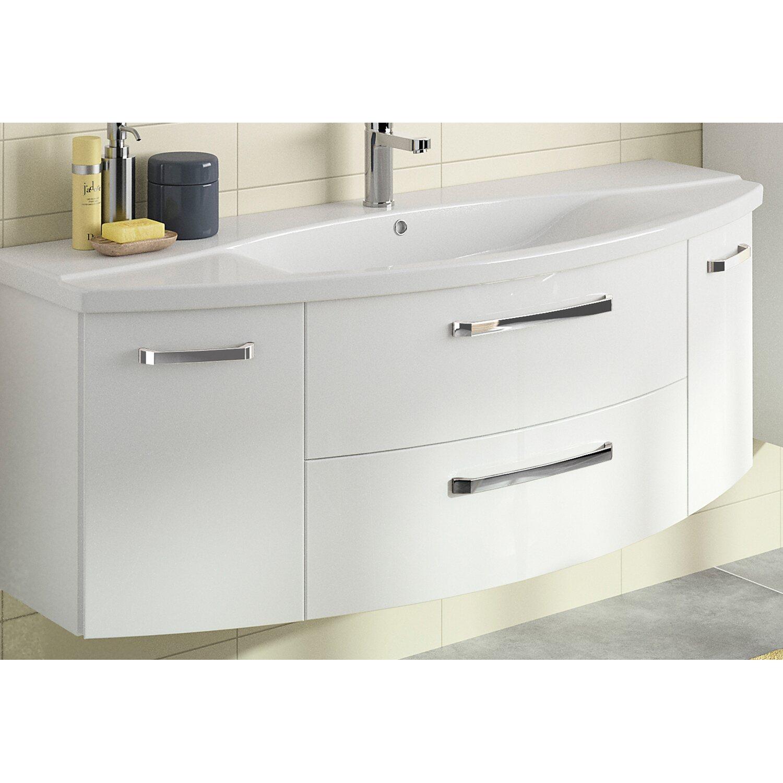pelipal waschbeckenunterschrank 140 cm fokus 4010 wei glanz kaufen bei obi. Black Bedroom Furniture Sets. Home Design Ideas