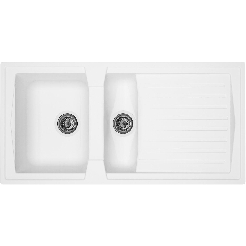 Respekta Mineralite Einbauspüle Boston 100 x 50 cm Weiß | Küche und Esszimmer > Spülen | Respekta
