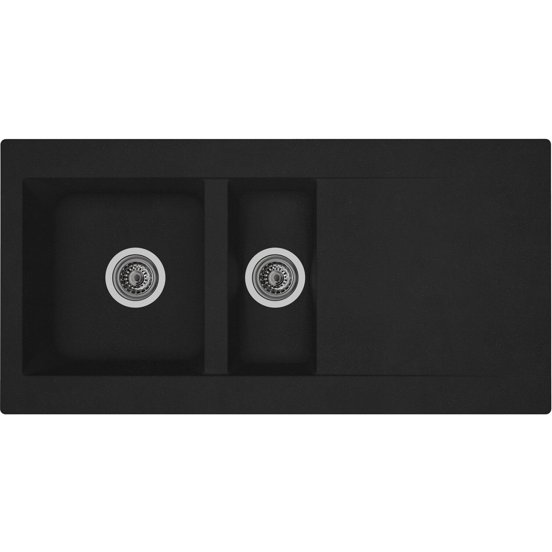 respekta mineralite einbausp le denver 100 x 50 cm schwarz kaufen bei obi. Black Bedroom Furniture Sets. Home Design Ideas