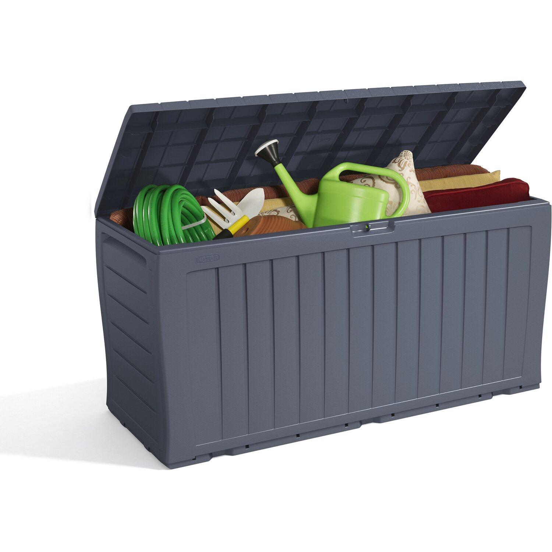 keter aufbewahrungsbox marvel 270 l anthrazit kaufen bei obi. Black Bedroom Furniture Sets. Home Design Ideas