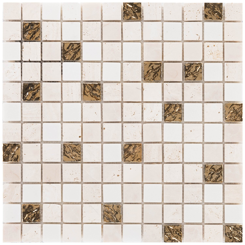 Mosaik Marmor Roma Gold 30 Cm X 30 Cm Kaufen Bei Obi