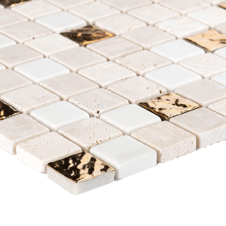 Designer Deckenleuchte Roma 30 Kaufen: Mosaik Marmor Roma Gold 30 Cm X 30 Cm Kaufen Bei OBI
