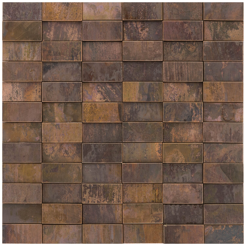Mosaik Metall Kupfer 3d 30 Cm X 30 Cm Kaufen Bei Obi