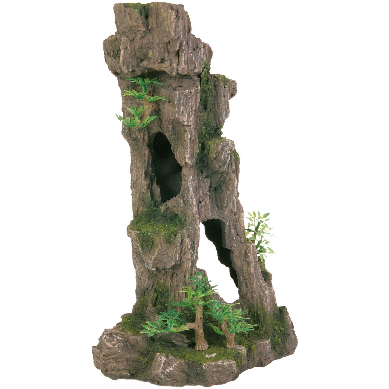 Trixie Fels mit Höhle/ Pflanzen stehend 28 cm