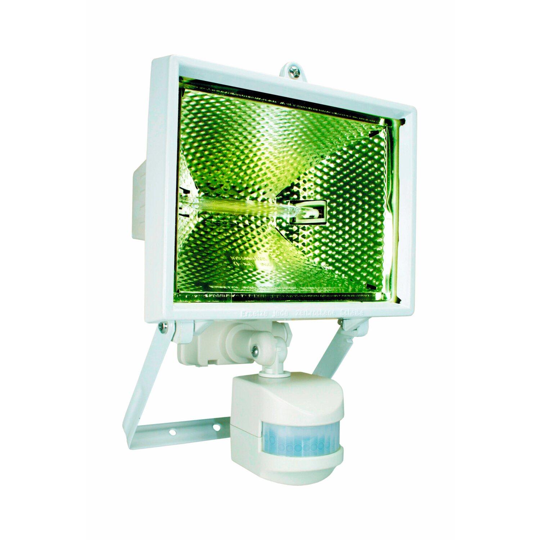 Halogenstrahler mit Bewegungsmelder EEK: C | Lampen > Leuchtmittel > Halogenstrahler | Weiß | Aluguss | Sonstige