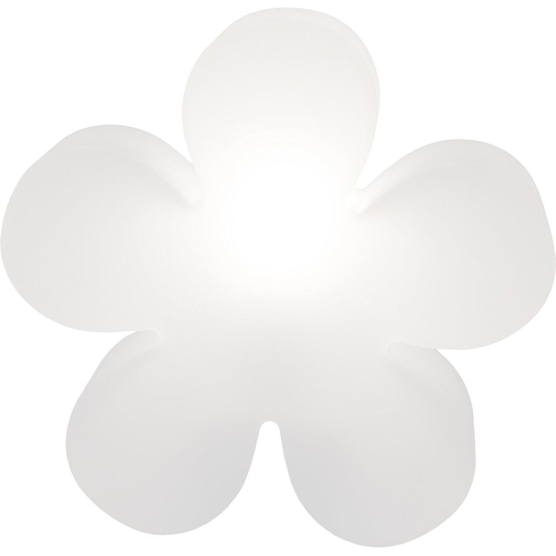 8 Seasons Design  Beleuchtete Blume 60 cm Weiß
