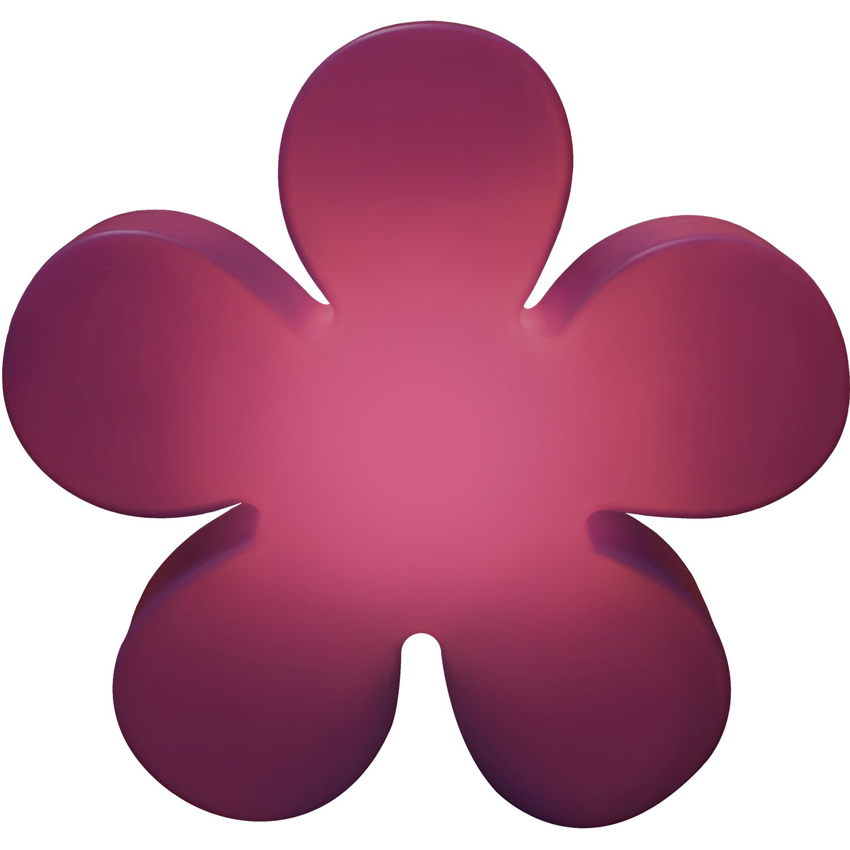 8 Seasons Design  Beleuchtete Blume 60 cm Violett