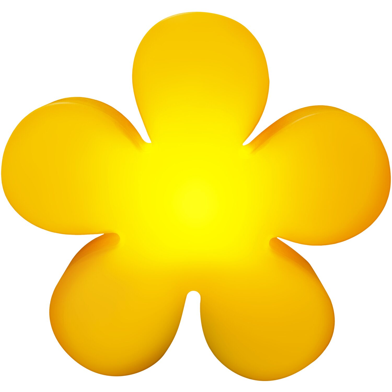 8 Seasons Design  Beleuchtete Blume 60 cm Gelb