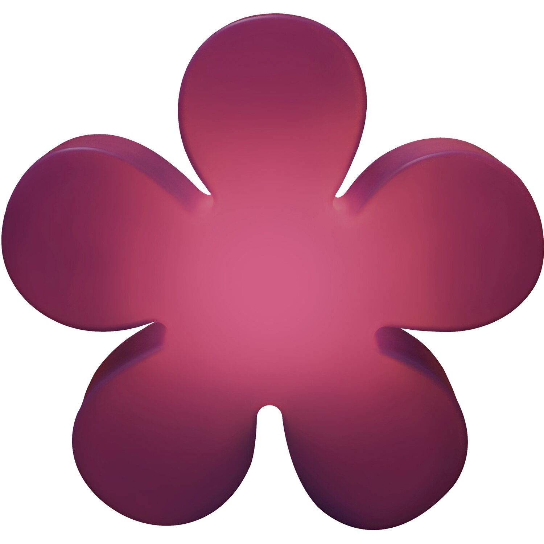8 Seasons Design  Beleuchtete Blume 40 cm Violett