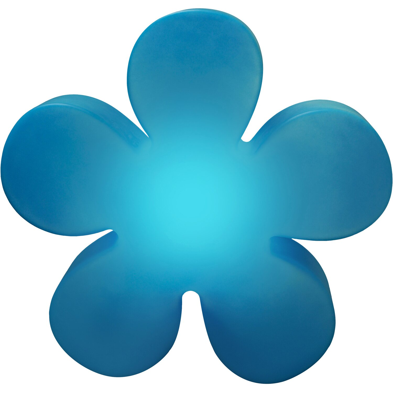 8 Seasons Design  Beleuchtete Blume 40 cm Blau
