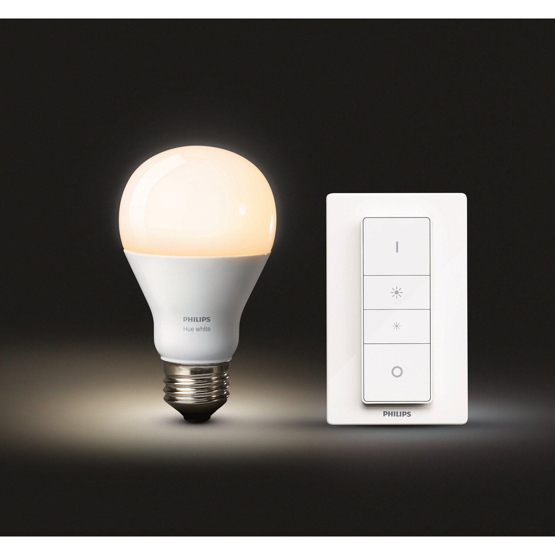 Philips hue led lampe e27 wei mit kabellosen dimming kit eek a vollbild parisarafo Choice Image