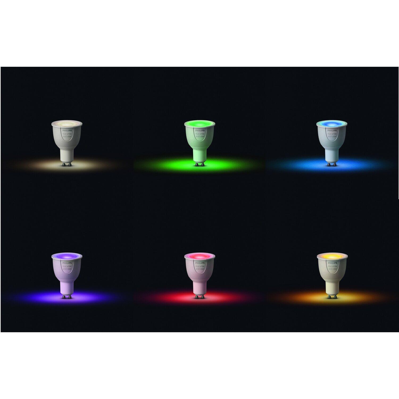 philips hue led lampe gu10 6 5w wei mehrfarbig color ambience erweiterung eek kaufen bei obi. Black Bedroom Furniture Sets. Home Design Ideas