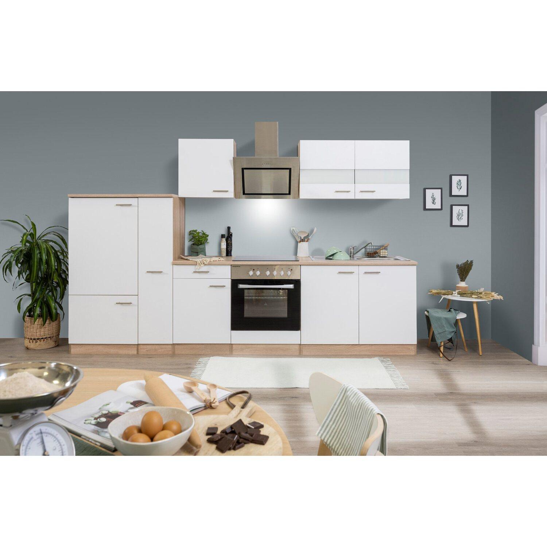 respekta economy k chenzeile kb300eswsc 300 cm wei eiche s gerau kaufen bei obi. Black Bedroom Furniture Sets. Home Design Ideas