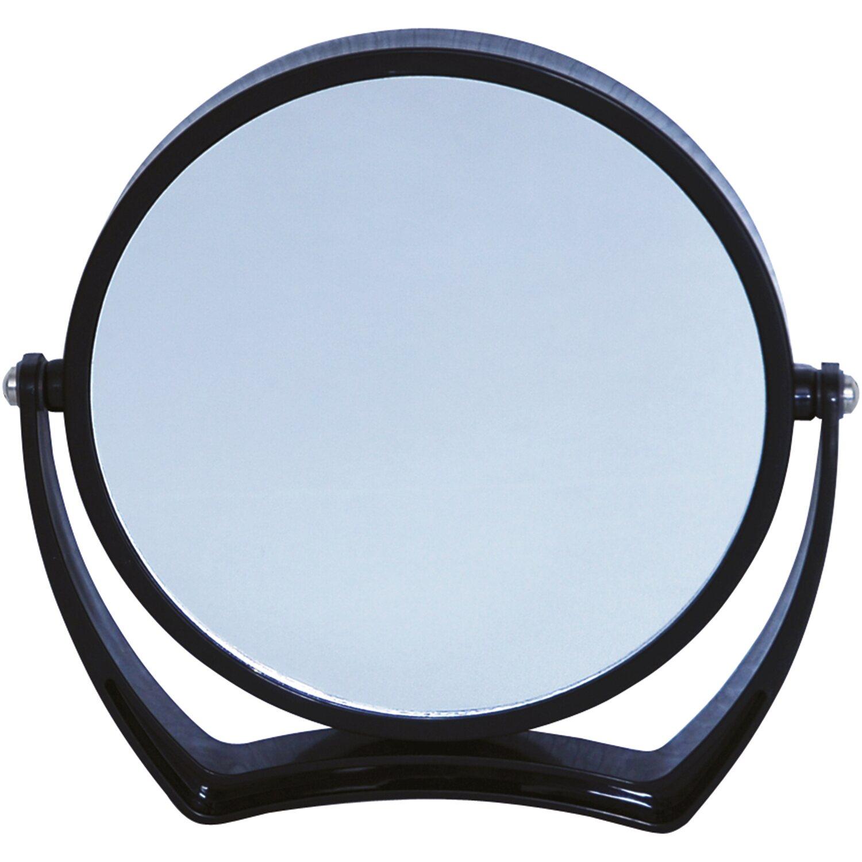 Vergrößerungs-Kosmetik-Standspiegel Schwarz