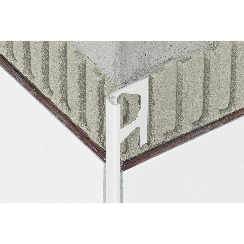 Schlüter Fliesenabschlussprofil Jolly 6 mm PVC Brillantweiß 2,5 m