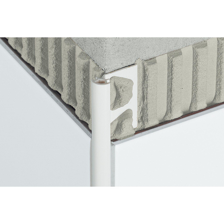 Schlüter Abschlussprofil Rondec 8 mm PVC Brillantweiß 2,5 m