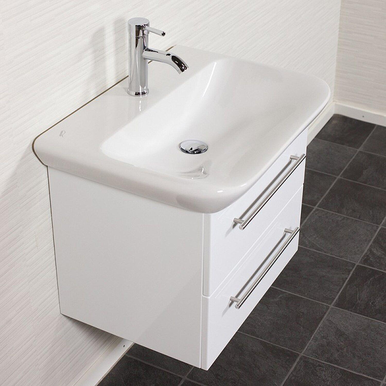Waschplatz 65 Cm Myday Weiss Hochglanz Kaufen Bei Obi