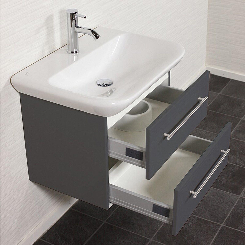 keramag waschplatz 65 cm myday anthrazit seidenglanz. Black Bedroom Furniture Sets. Home Design Ideas