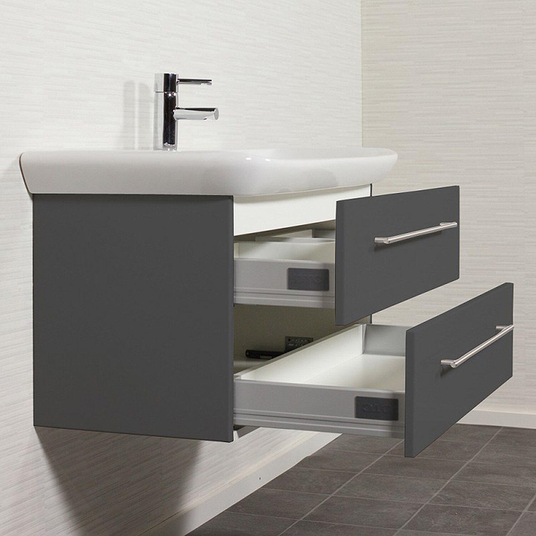 keramag waschplatz 100 cm myday anthrazit seidenglanz. Black Bedroom Furniture Sets. Home Design Ideas