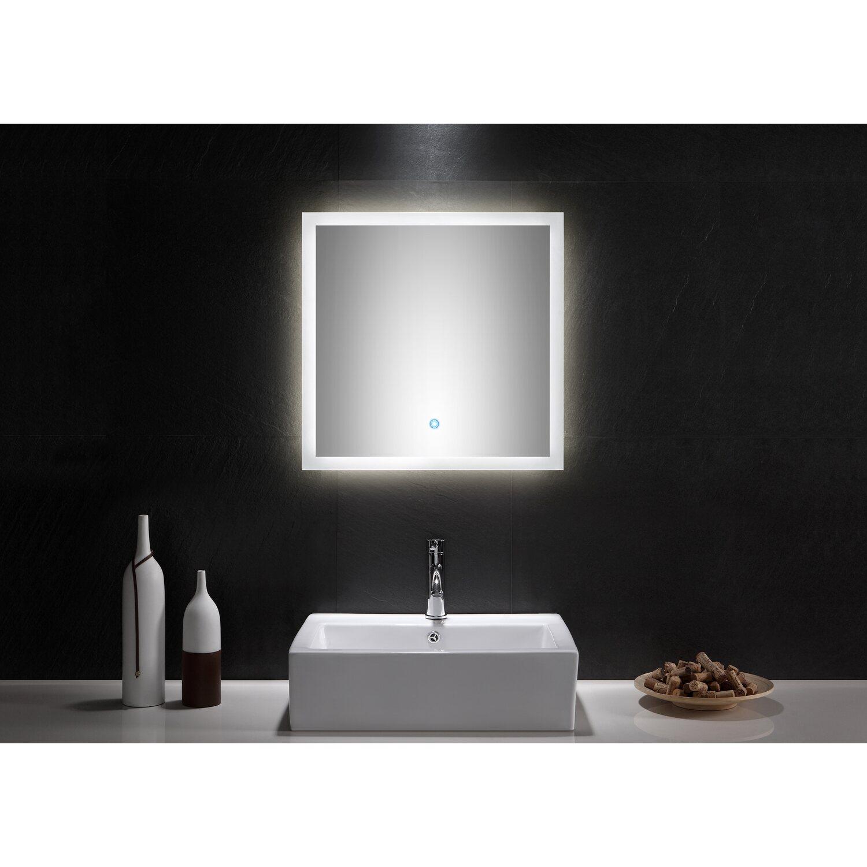 Badezimmerspiegel 60x60.Led Lichtspiegel 60x60 Cm Neutralweiss Mit Touch Bedienung Eek A Kaufen Bei Obi