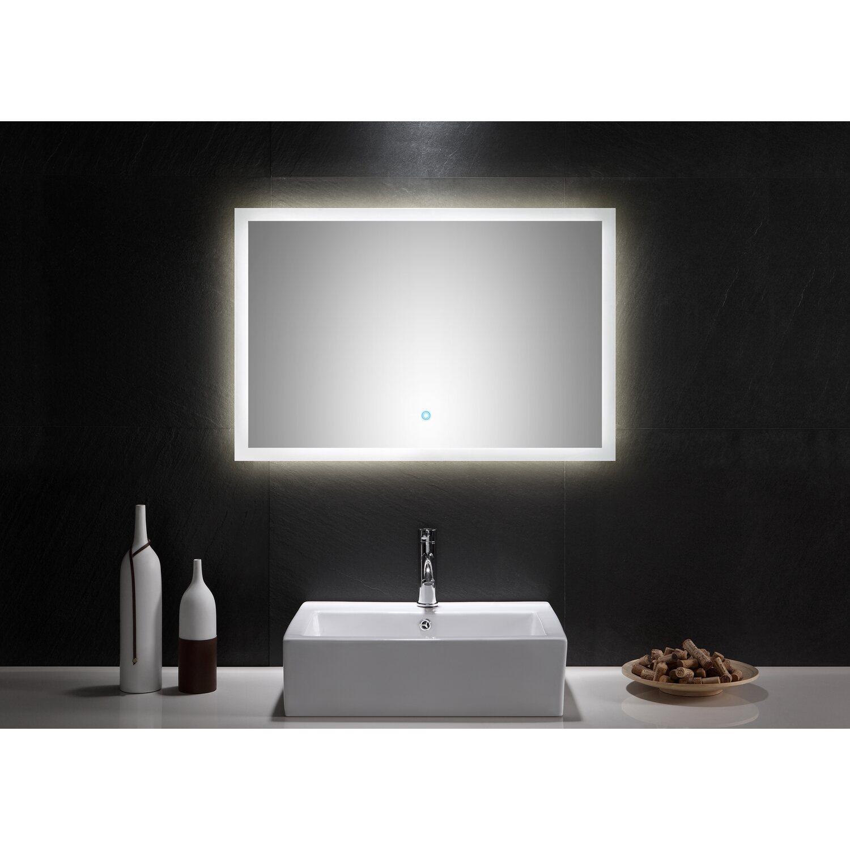 LED-Lichtspiegel 90x60 cm Neutralweiß mit Touch Bedienung