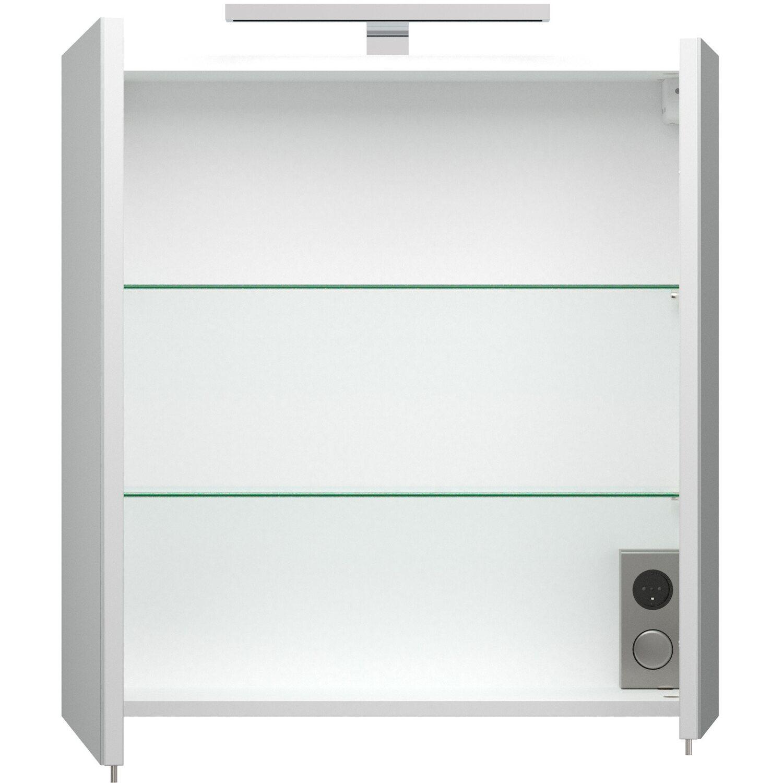Emotion Badmöbel Komplett-Set Pro 60 cm Weiß Hochglanz 9-teilig EEK ...
