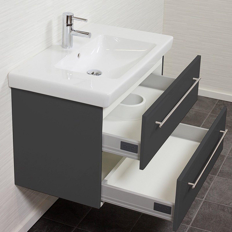 waschplatz 80 cm subway 2 0 anthrazit seidenglanz kaufen bei obi. Black Bedroom Furniture Sets. Home Design Ideas