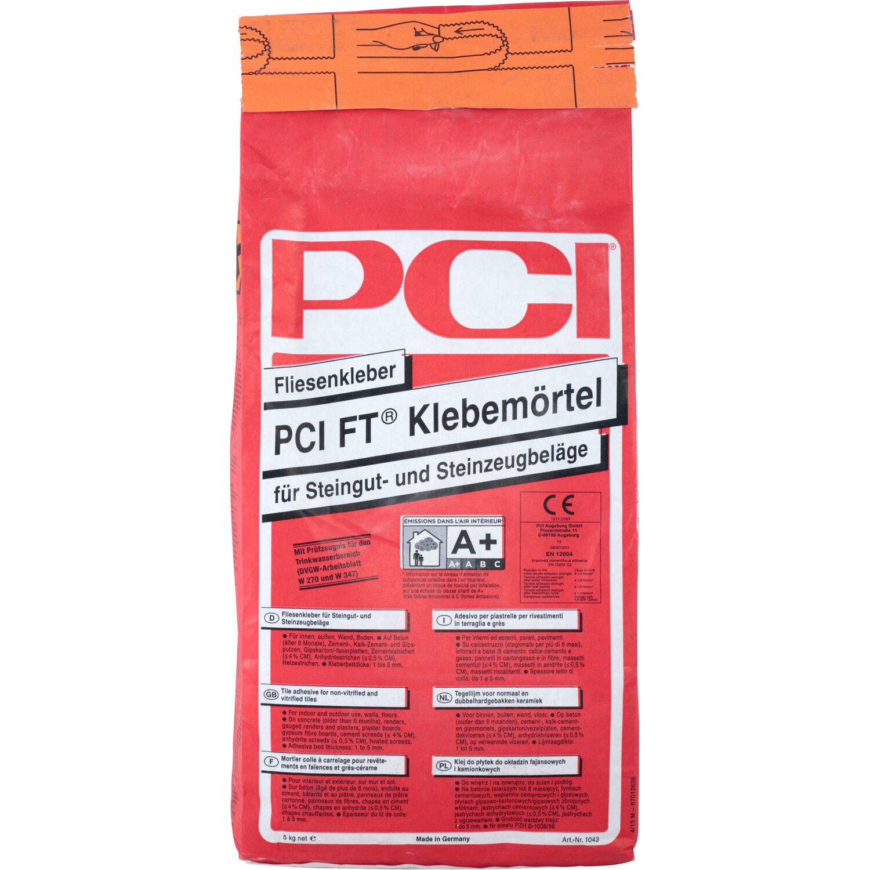 PCI  FT-Klebemörtel Fliesenkleber Grau 5 kg