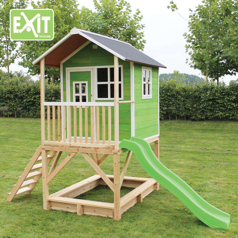 exit spielturm loft 500 gr n mit rutsche kaufen bei obi. Black Bedroom Furniture Sets. Home Design Ideas