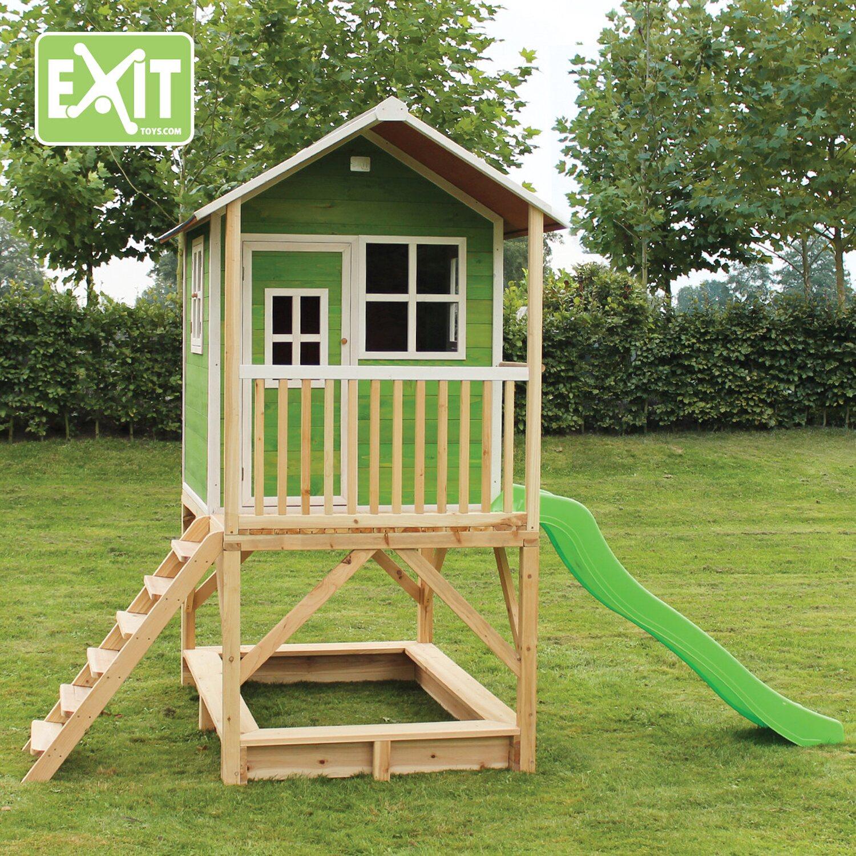 Relativ Exit Spielturm Loft 500 Grün mit Rutsche kaufen bei OBI GF27