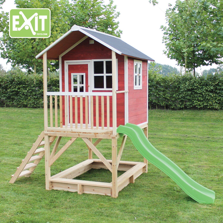 Sehr Exit Spielturm Loft 500 Rot mit Rutsche kaufen bei OBI UJ03