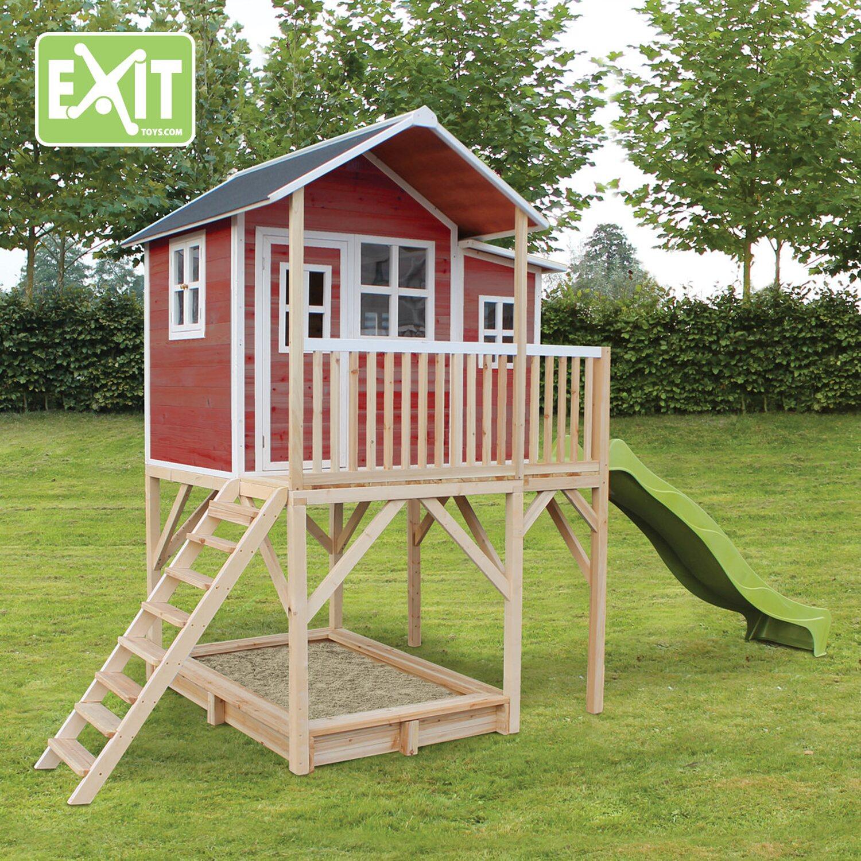 exit spielturm loft 750 rot mit rutsche kaufen bei obi. Black Bedroom Furniture Sets. Home Design Ideas