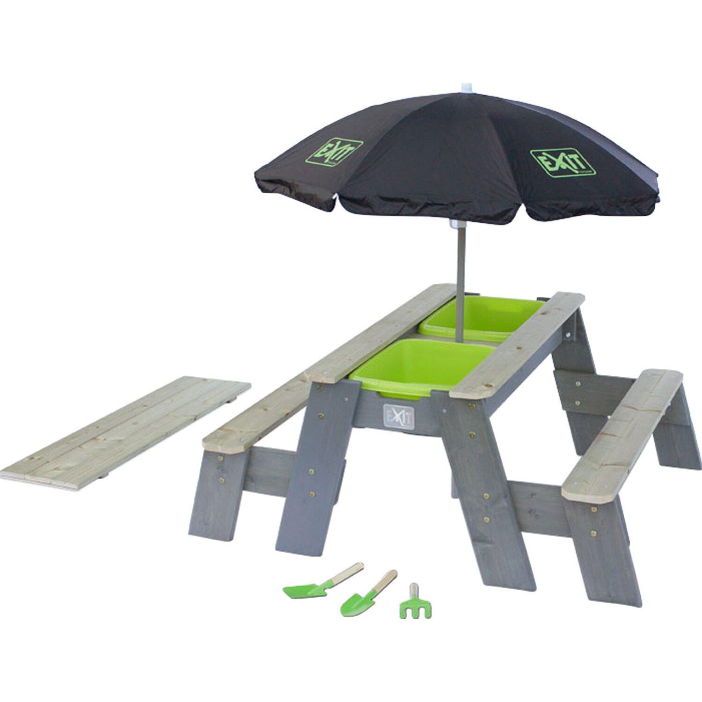 Exit Sand-, Wasser- & Picknick-Tisch Aksent Deluxe mit 2 Sitzbänken | Baumarkt > Camping und Zubehör > Weiteres-Campingzubehör | Exit Toys