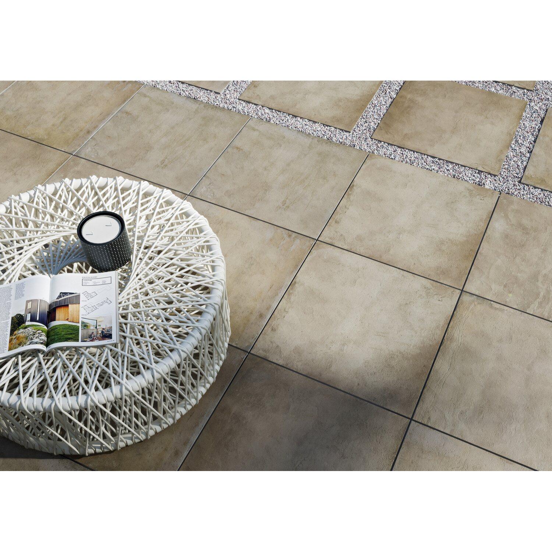 Terrassenplatte Feinsteinzeug Stone Braun 59 3 Cm X 59 3 Cm Kaufen