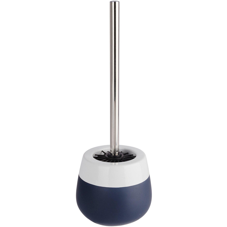 Wenko WC-Garnitur Malta Keramik Blau-Weiß   Bad > Bad-Accessoires > WC-Bürsten   Dunkelblau - Weiß   Wenko