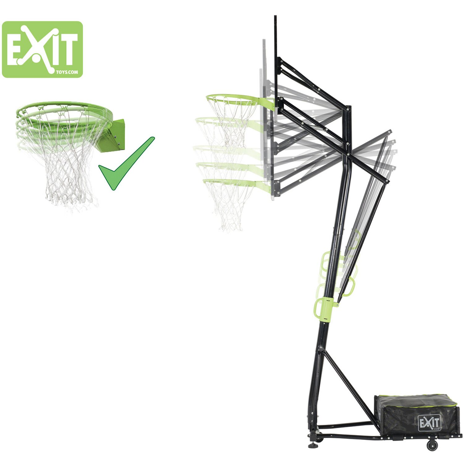 Top Exit Basketball-Korb Galaxy Portable Basket mit Dunkring kaufen BA44