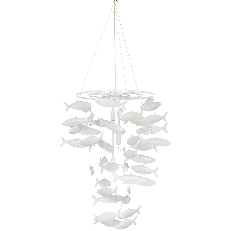 Impressionen Deckenleuchte, mit Fischen aus Metall