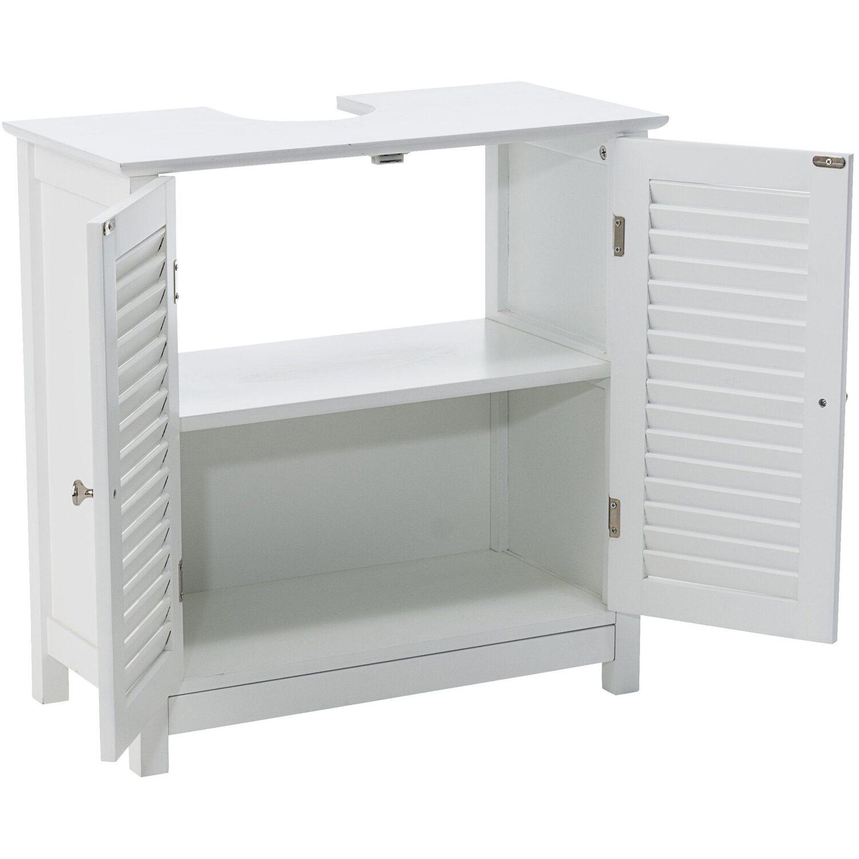 miavilla waschbeckenunterschrank lamellent ren 61 cm x 60 cm x 30 cm wei kaufen bei obi. Black Bedroom Furniture Sets. Home Design Ideas