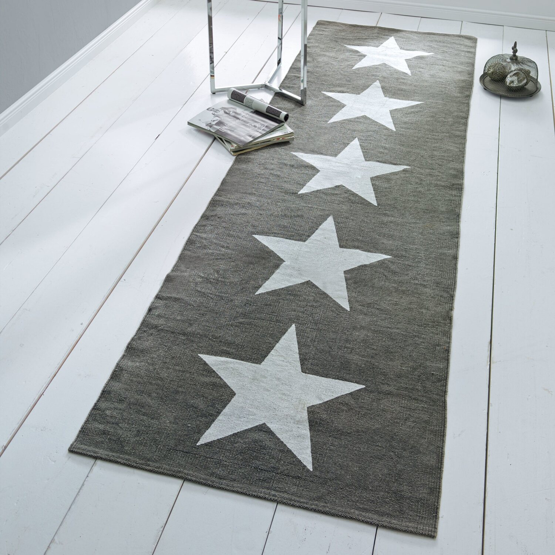 best of home teppich sterne 70 cm x 240 cm grau kaufen bei obi. Black Bedroom Furniture Sets. Home Design Ideas
