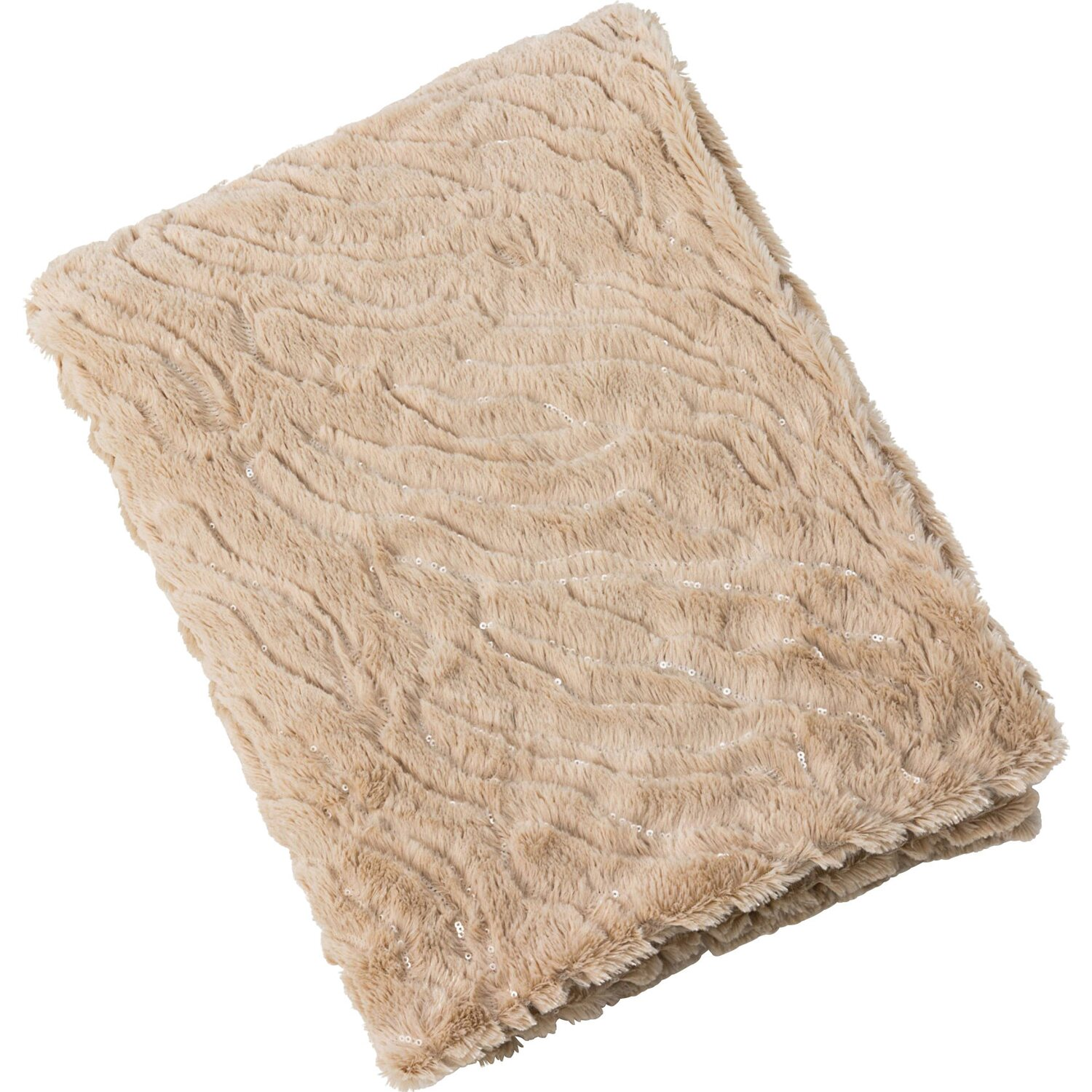 best of home Best of home Wohndecke mit Pailletten 130 cm x 170 cm Taupe