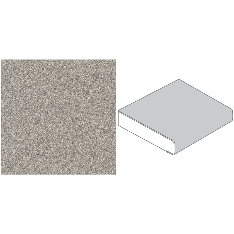 Arbeitsplatte 16 cm x 16,16 cm Dunkelgrau (S 16)