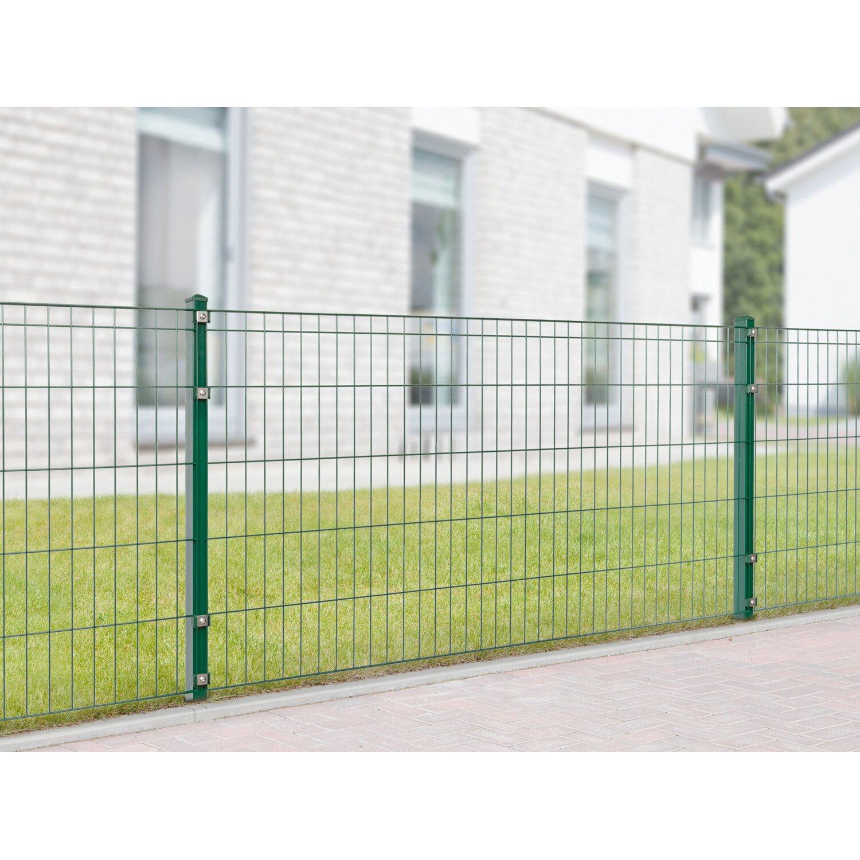 Metallzaun Set Michl Höhe 100 cm Länge 4 m Grün kaufen bei OBI